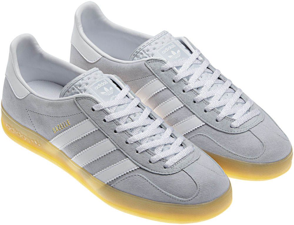 adidas Originals Gazelle Indoor Clear Grey Gum White V23173 (2)