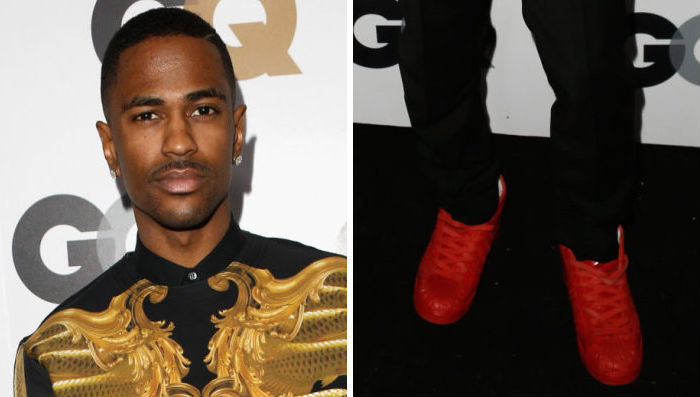 Big Sean wearing adidas Originals Pro Model Detroit Players