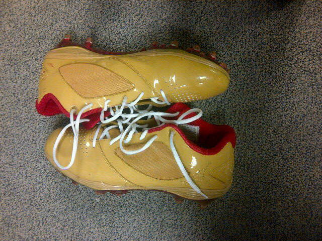 Jordan BCT Speed Low Football Cleats Michael Crabtree Gold Fined