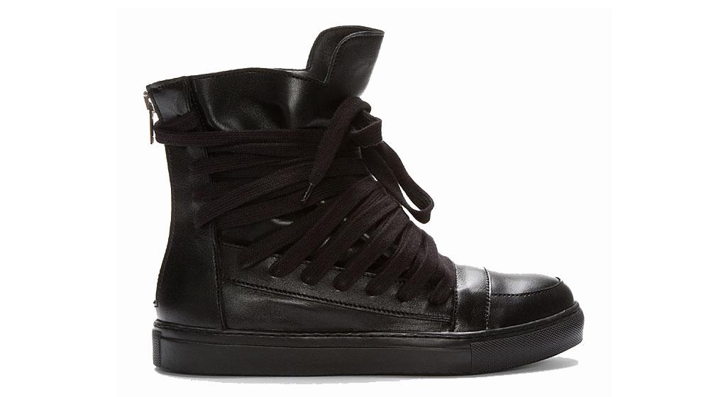 d6b74e5f715b73 Kris Van Assche Extended Lace High Top Sneaker. Over the past few seasons