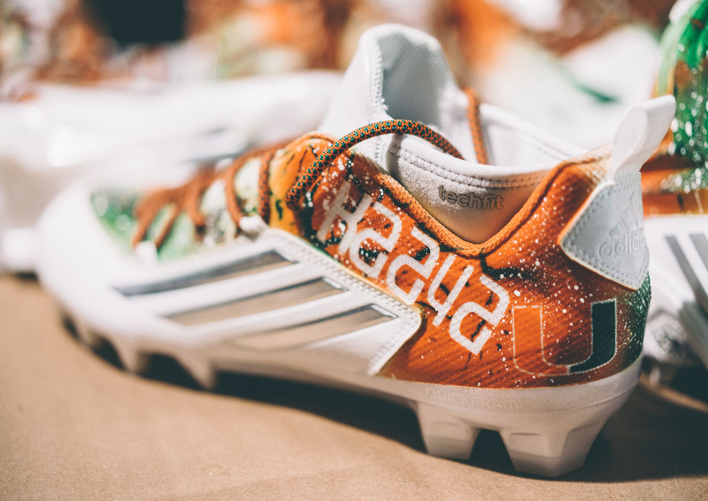 Miami Hurricanes Custom Cleats Soles by Sir Marcus Rivero Interview (11)