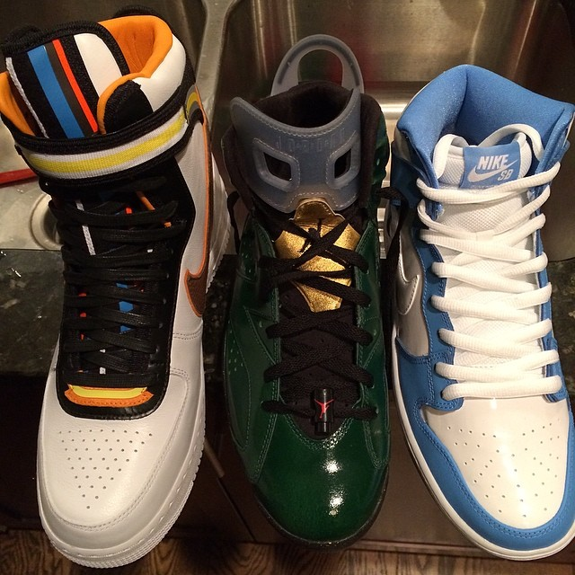 Trinidad James Picks Up Nike Air Force 1 RT, Air Jordan VI 6 Champagne, Nike Dunk SB High March Madness