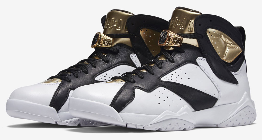 Air Jordan VII 7 C&C White/Gold-Black 725093-140 ...