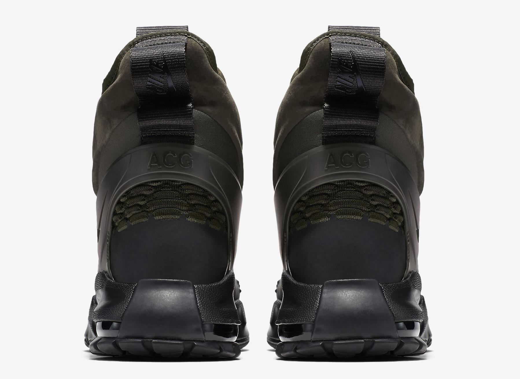 1018d9179f8d Image via Nike NikeLab Air Zoom Tallac Flyknit 865947-002 Olive Heel