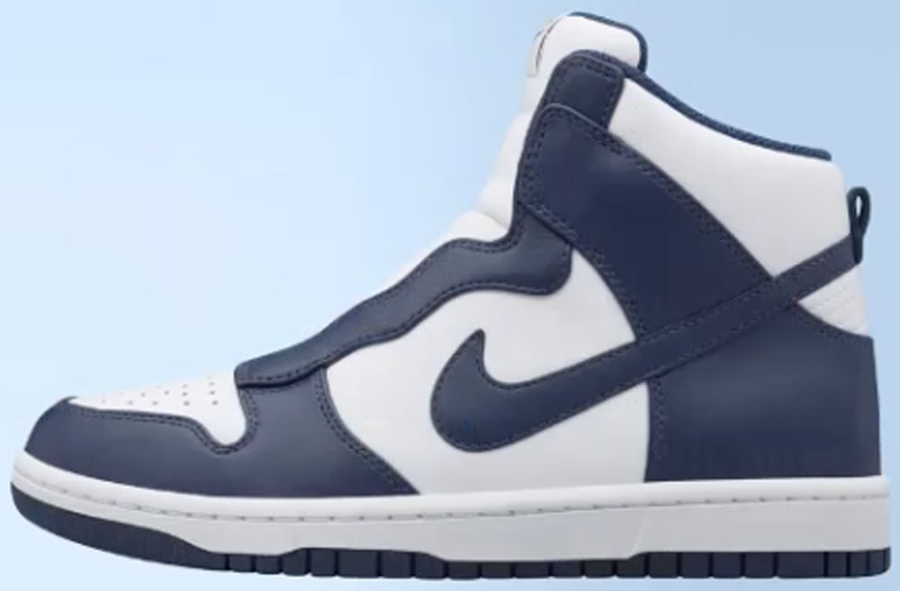 sacai x Women's Nike Dunk Lux High Obsidian