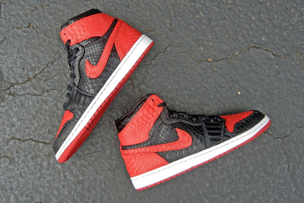 Air Jordan 1 'Bred' Python by JBF Customs (4)