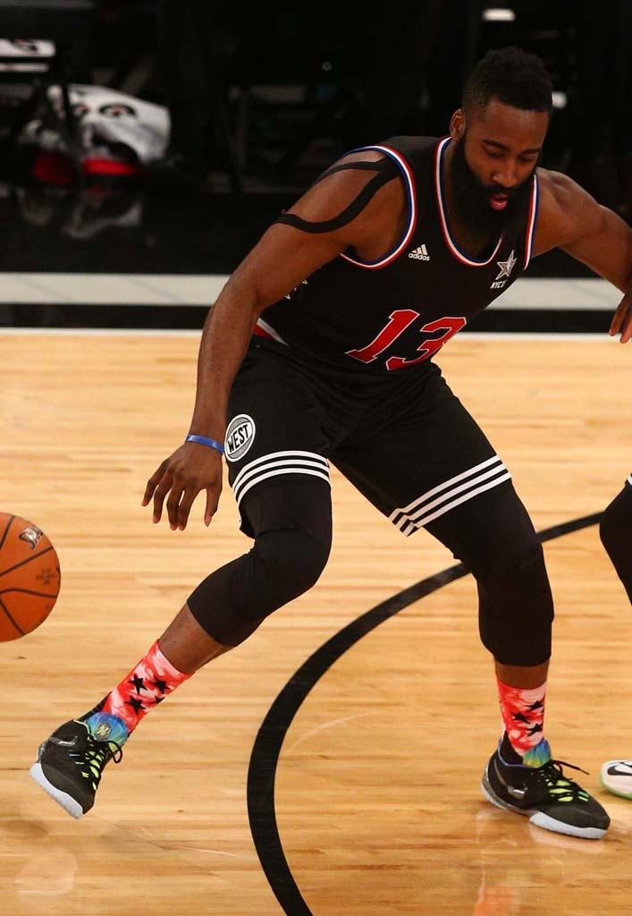 James Harden wearing the 'All-Star' Nike Hyperchase (1)