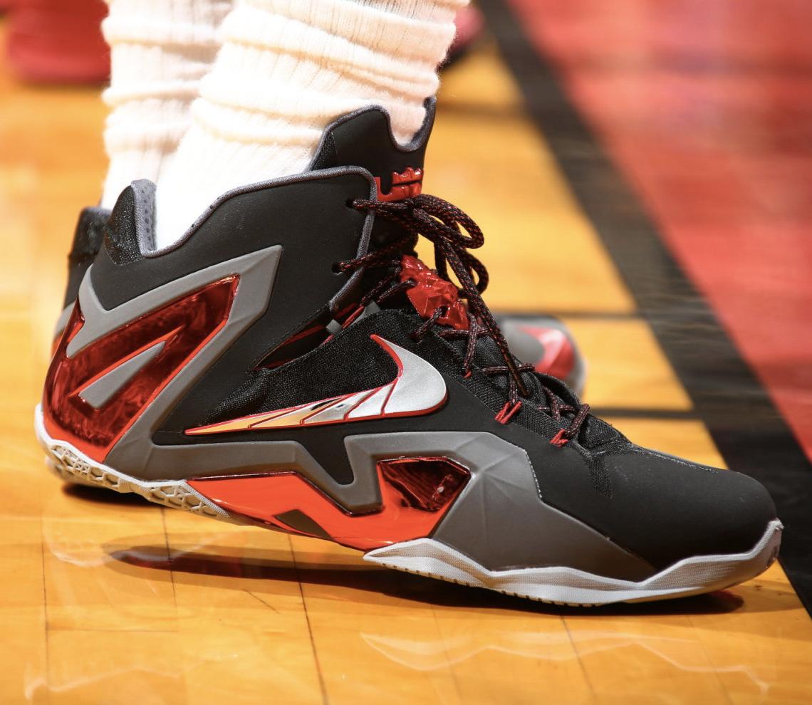 Up Close  LeBron James Wears LeBron 11 Elite PE For Game 2  35654604e