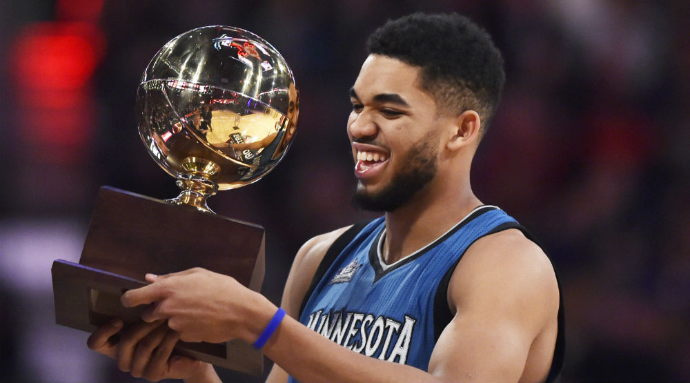 Karl-Anthony Towns Wins the 2016 NBA Skills Challenge