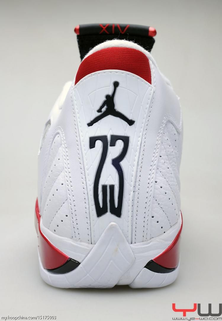 Air Jordan 14 XIV Retro White Varsity Red Black 487471-101 9