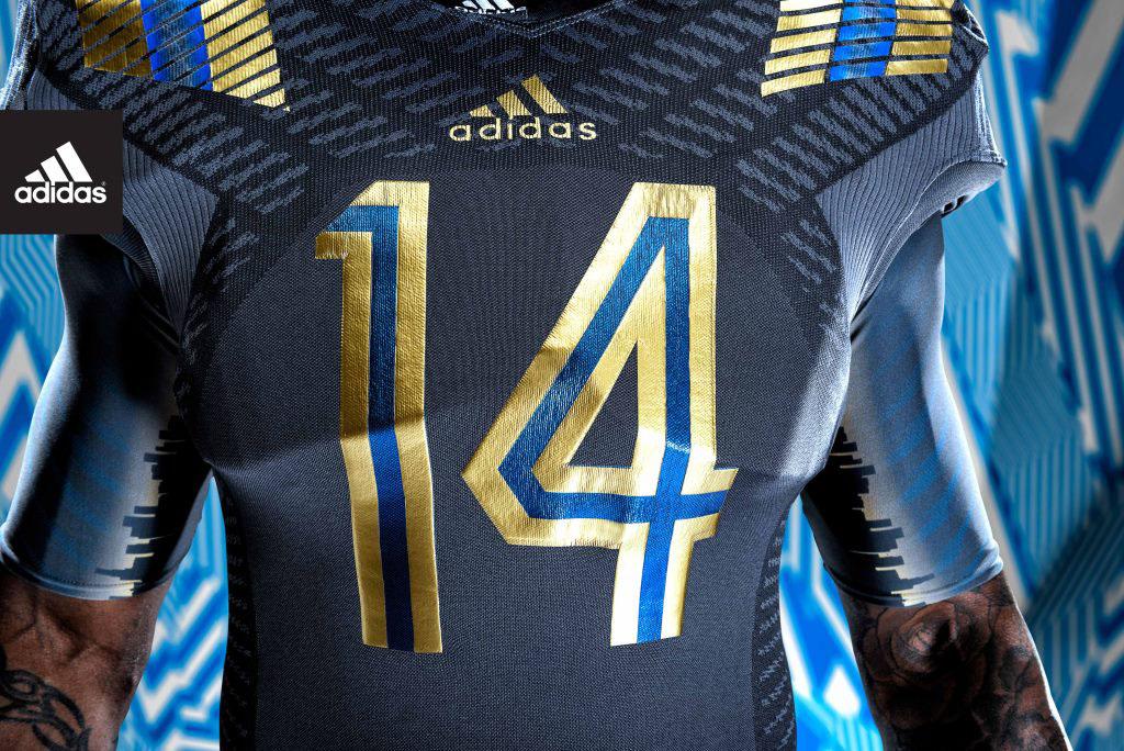 hot sales 232ac ccb20 adidas and UCLA Unveil LA Steel TECHFIT Football Uniforms (3)