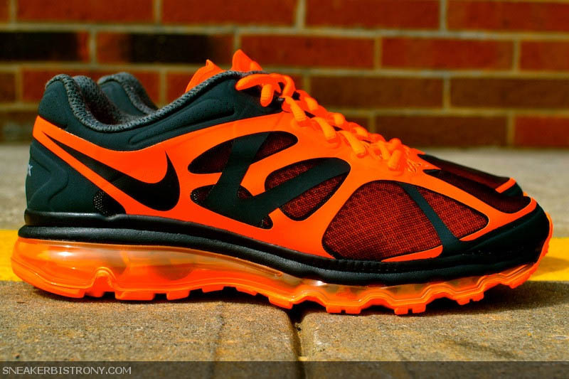 nike air max 2012 anthraciteblacktotal orange sole