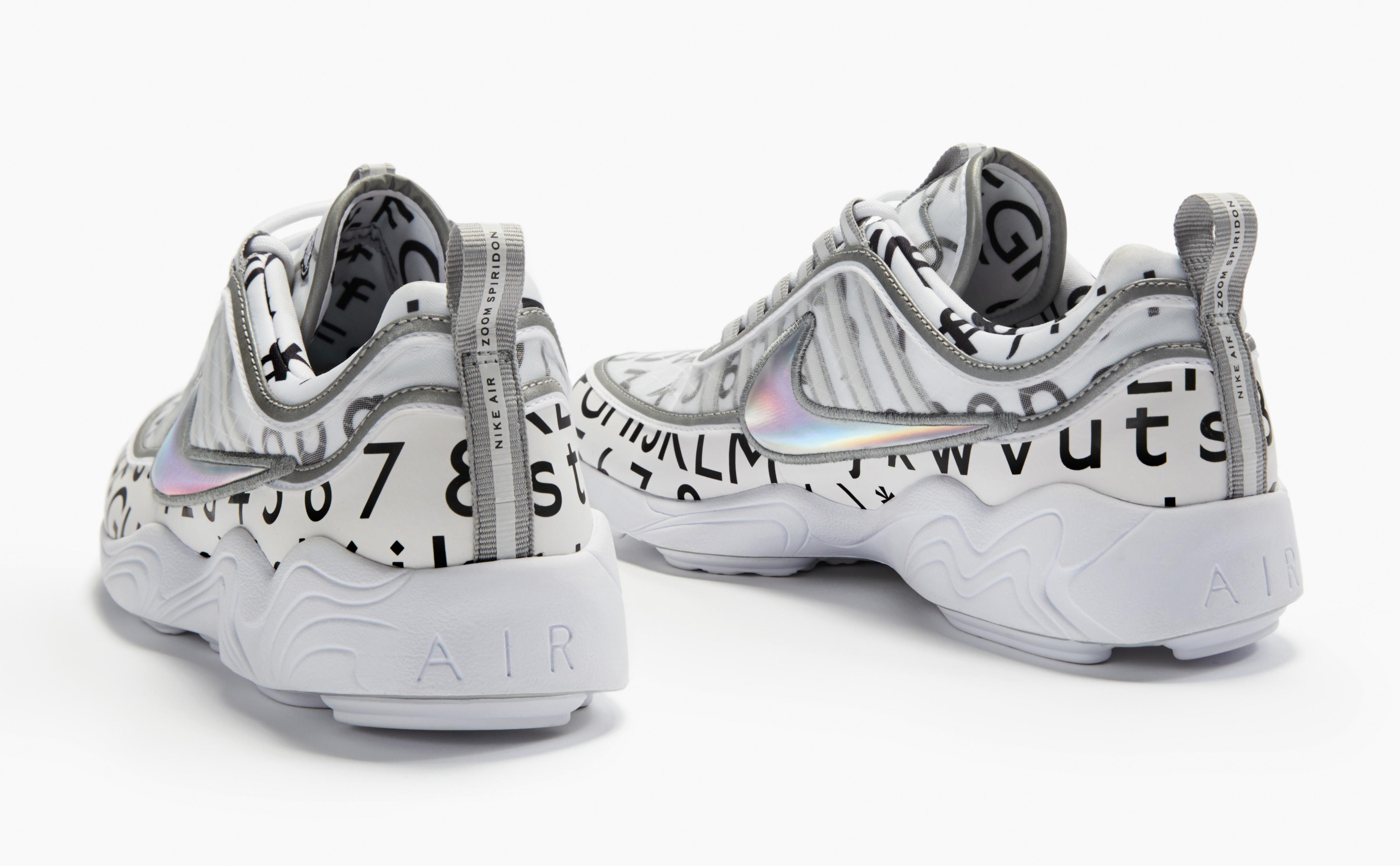 Image via Nike Roundel NikeLab Spiridon White Heel 711f11355