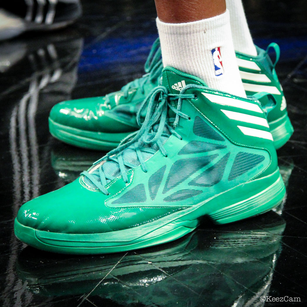 #SoleWatch // Up Close At Barclays for Nets vs Celtics - Walter McCarty wearing adidas Crazy Fast