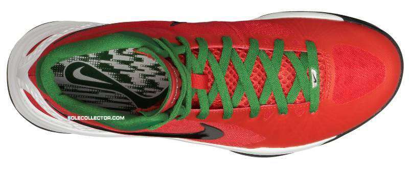 574282d299b61 Nike Zoom Hyperdunk 2011 Challenge Red Black White Pine Green 454138-600