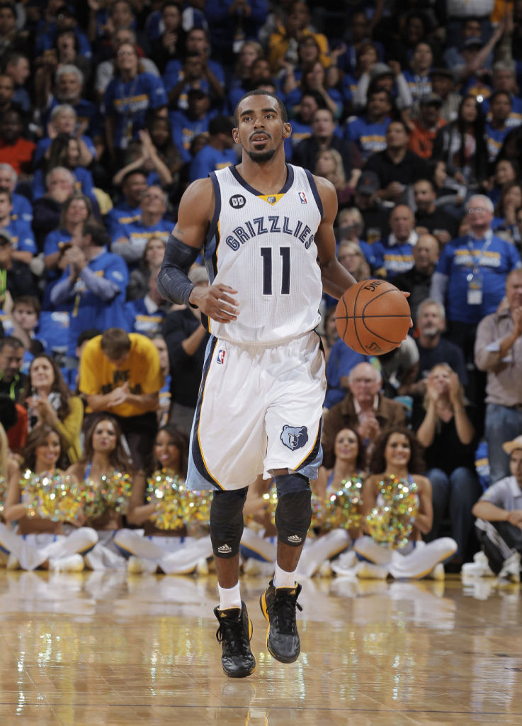 Mike Conley wearing adidas adizero Crazy Light 2 Black Yellow