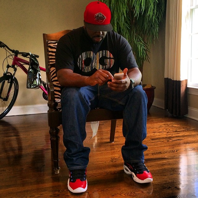 DJ Funk Flex wearing Reebok Question First Ballot