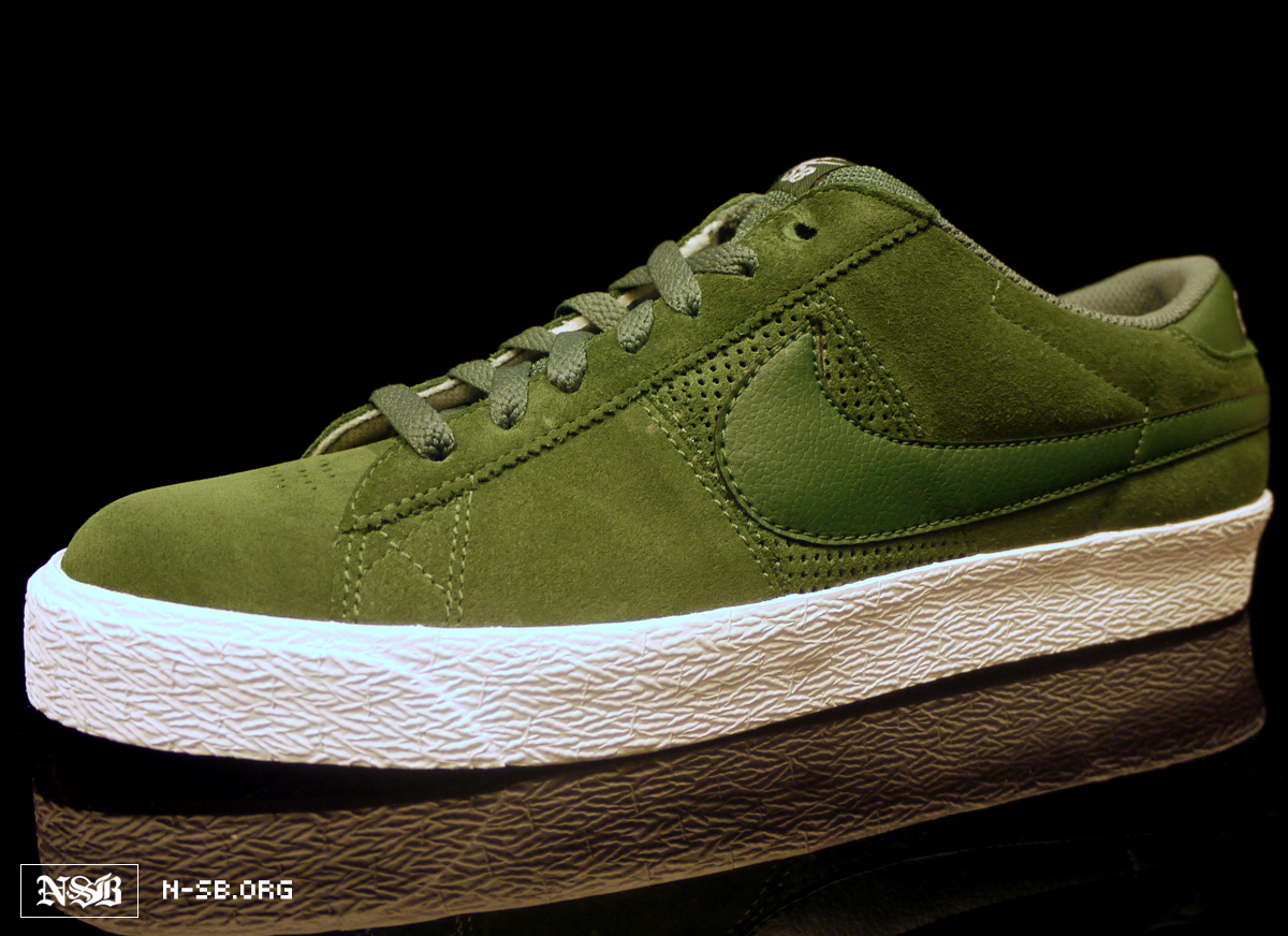 official photos 7ca6f d23dc Nike SB Blazer Low - Green Suede - Spring 2012 | Sole Collector