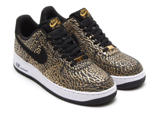 nike air force 1 gold and black