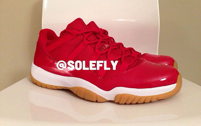 Air Jordan Retro XI 11 Red Gum Sole