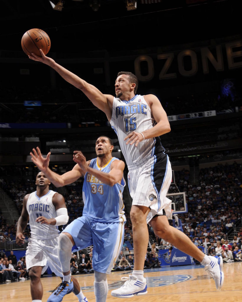 Hedo Turkoglu wearing adidas adizero Crazy Light Low White Blue
