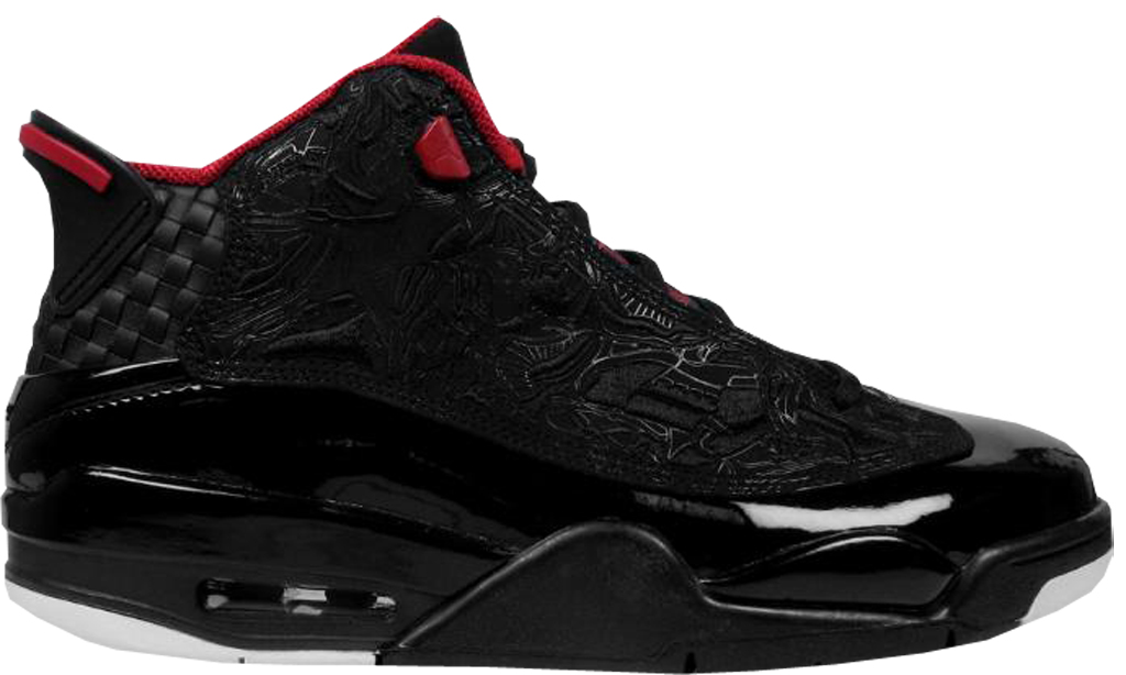 quality design 5562f 2cb86 Jordan Dub Zero 311046-061 Black Varsity Red-White