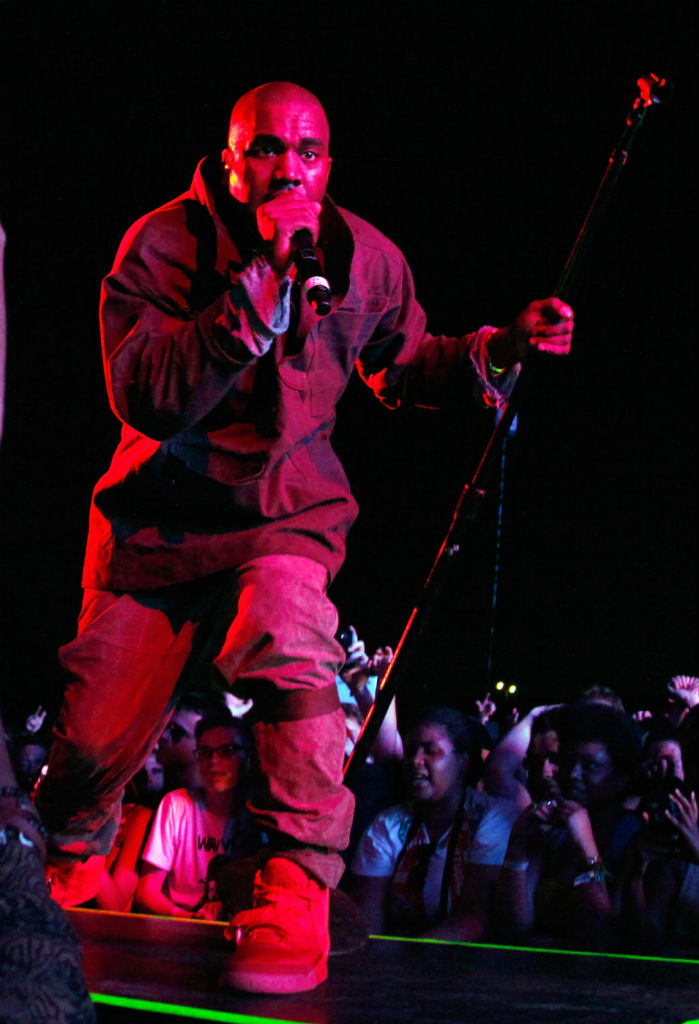 Kanye West wears Nike Air Yeezy 2 All-Red at Governor's Ball (7)