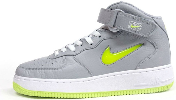 Nike Air Force 1 Mid Wolf Grey/Volt