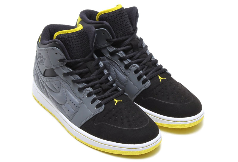 Air Jordan I 1 Retro '99 Cool Grey/Vibrant Yellow-Black-White 654140-032 (5)