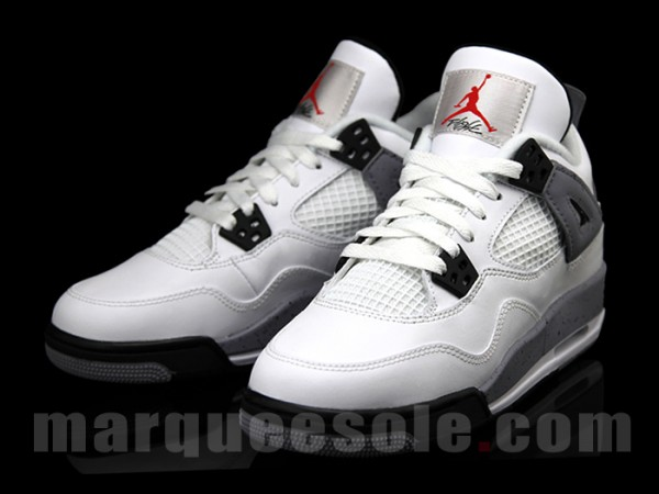 30fea99f807223 Air Jordan Retro 4 GS - White Cement - New Images