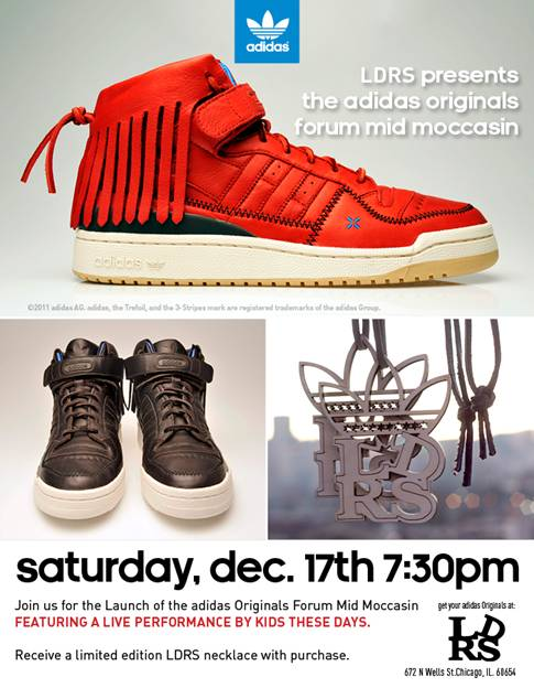 LDRS x adidas Originals Forum Mid Moccasin Launch Event Flyer