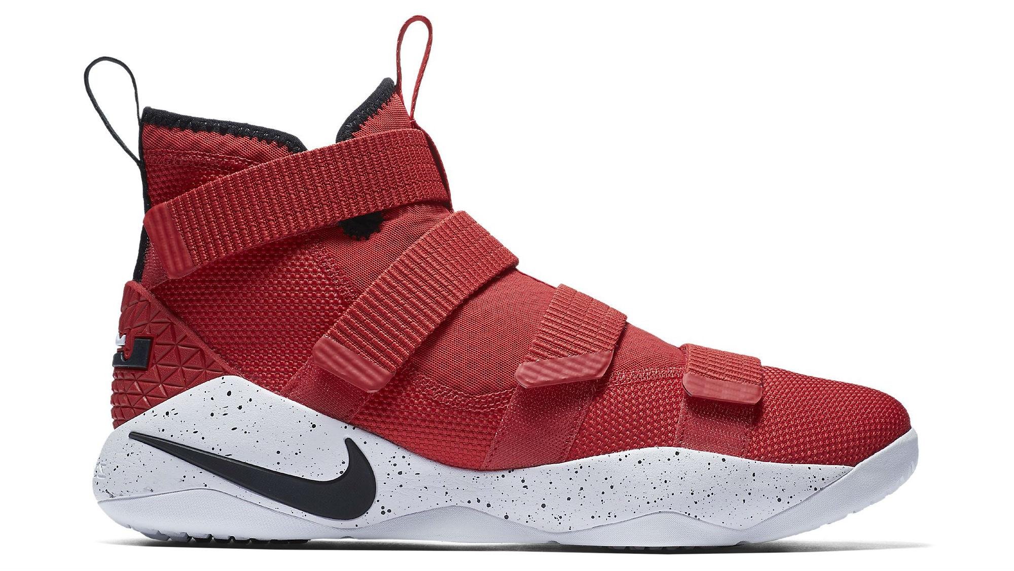 Nike LeBron Soldier 11 University Red/Black-White-Total Crimson