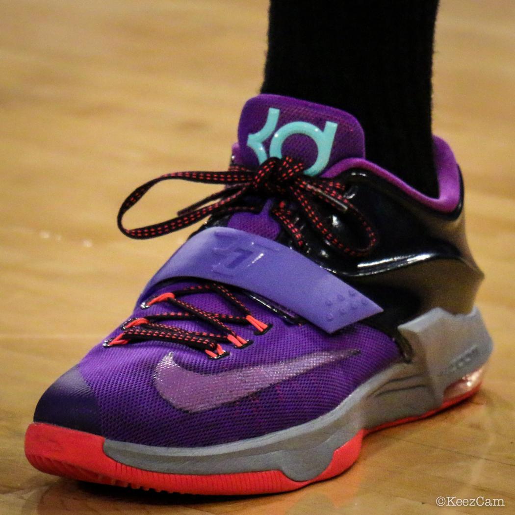nike basketball shoes 2017 kd. mistie bass wearing the nike kd vii 7 \u0027lightning 534\u0027 basketball shoes 2017 kd s