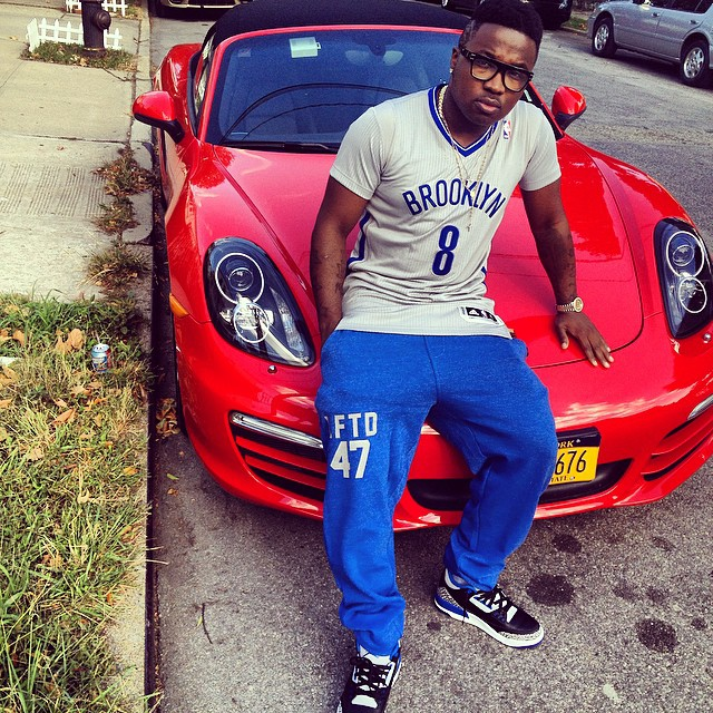 Troy Ave wearing Air Jordan III 3 Sport Blue