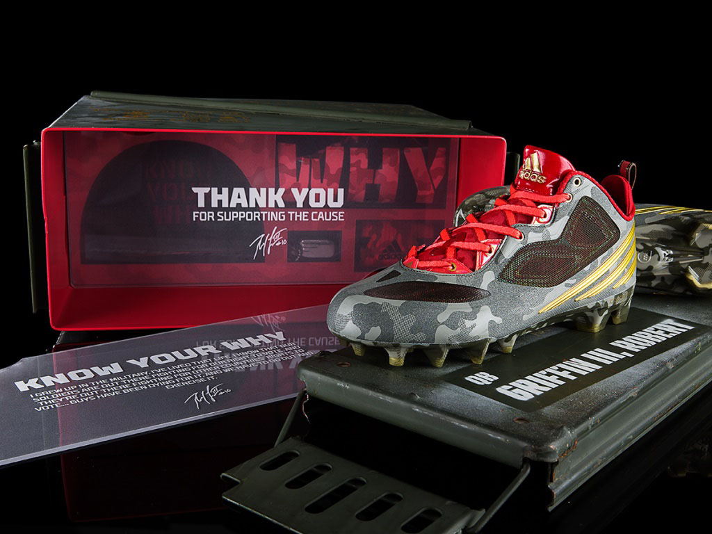 Robert Griffin III RG3 To Honor Military by Debuting First adidas Signature Cleat (2)