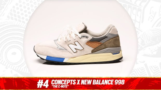 "Complex Best of 2013: Concepts x New Balance 998 ""C-Note"" is the #4 Sneaker of the Year"
