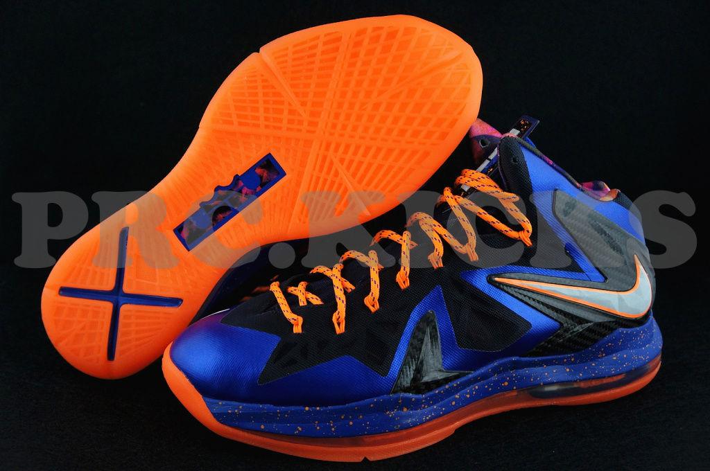 best sneakers a7f6d 70918 Nike LeBron X PS Hyper Blue Black Orange 579827-400 (4)