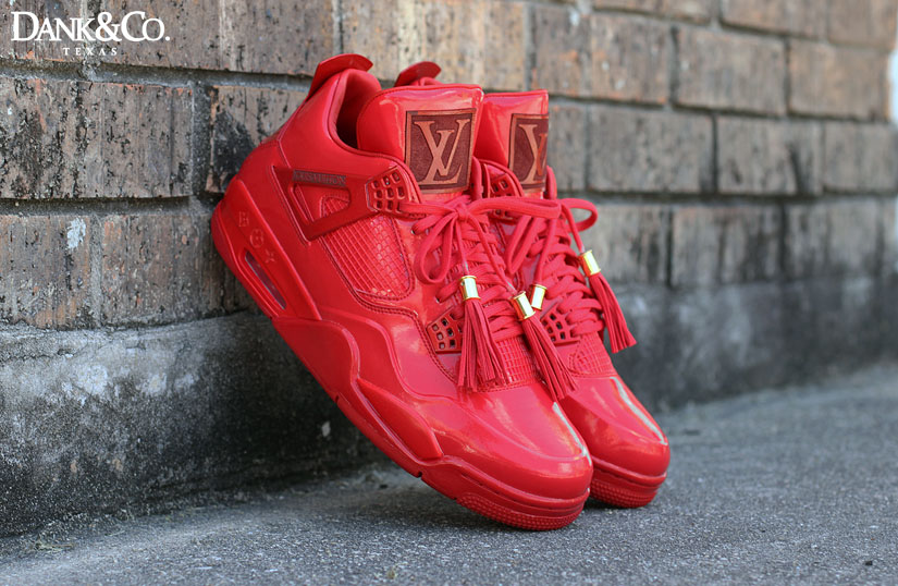 louis vuitton 4s. air jordan 11lab4 red louis vuitton custom (1) 4s sole collector
