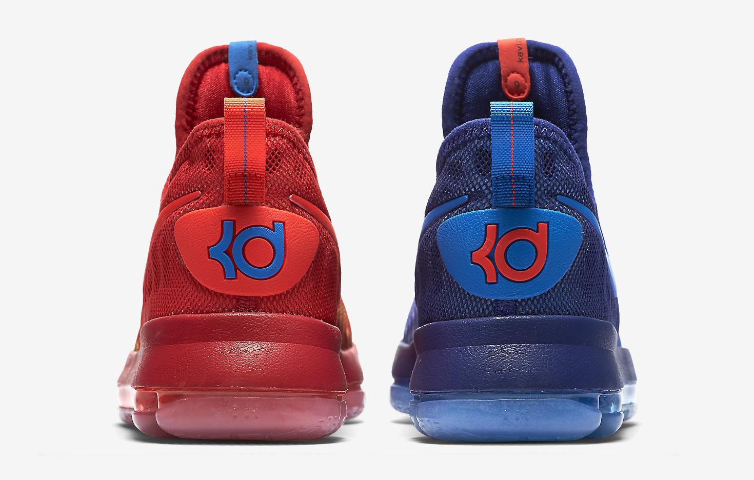 Image via Nike Nike KD 9 Fire Ice 855908-400 Heel