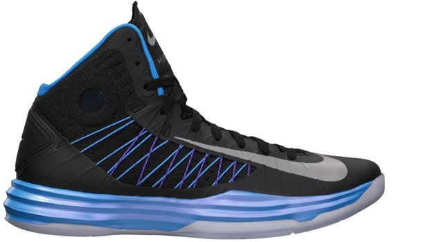 Nike Lunar Hyperdunk 2012+ Black/Metallic Silver-Blue Glow-Blue Tint