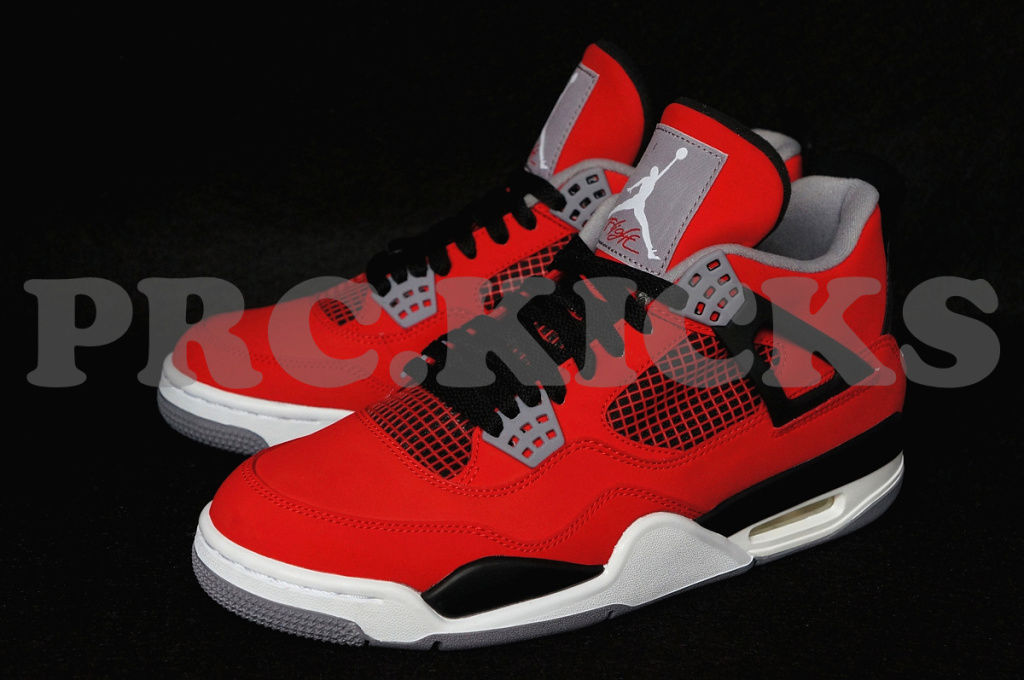 Air Jordan IV 4 Fire Red White Black 308497-603 (2)