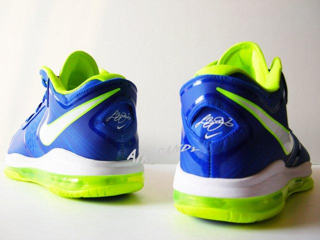 f3de5243f017 Nike Air Max LeBron 8 V 2 Low Treasure Blue White Volt 456849-401