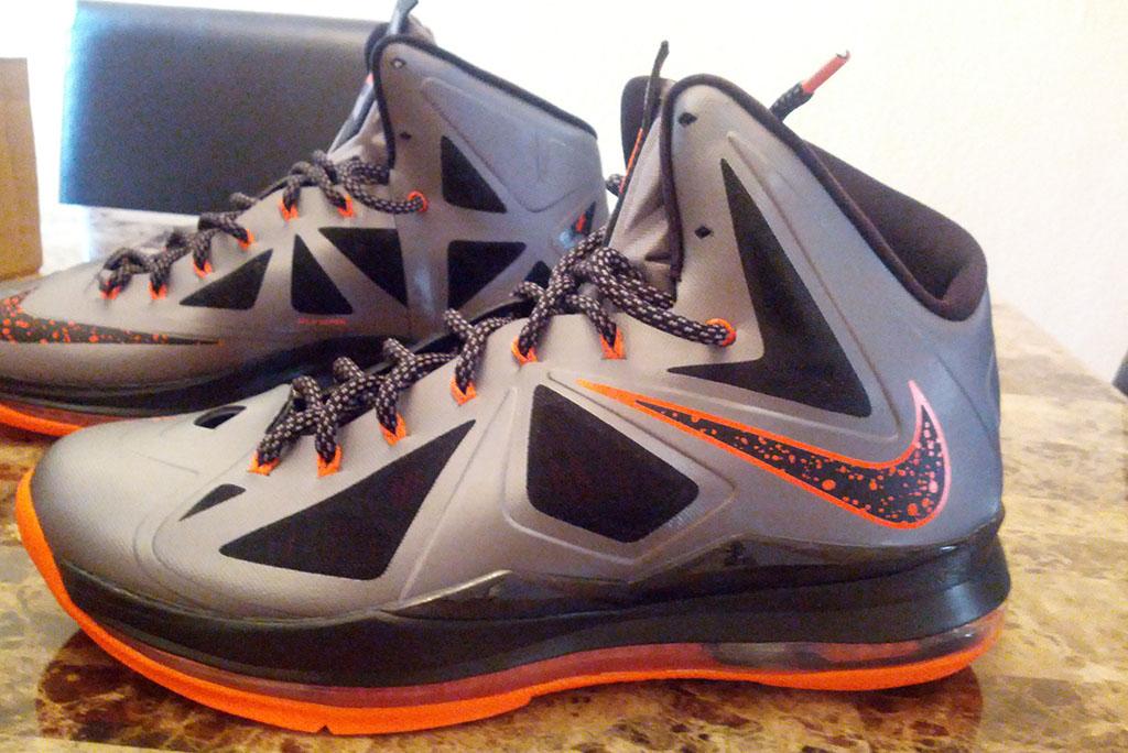 Buy Discount Nike Lebron 10 X Silver Orange