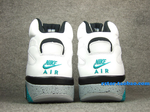 Nike Air Force 180 High White Blue Emerald Wolf Grey Black 537330-100 (12)