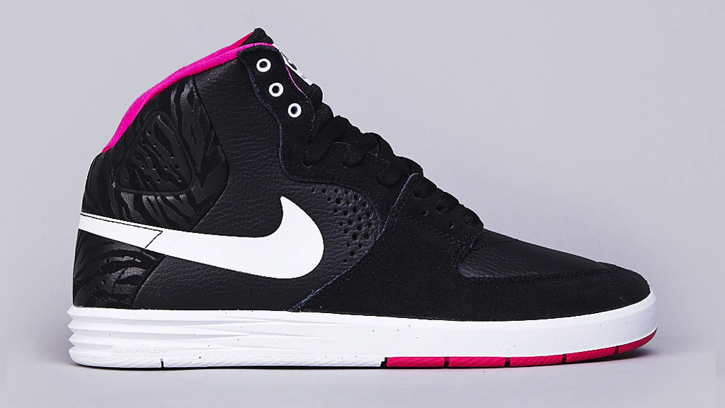 Nike SB Paul Rodriguez 7 High - Black / White / Pink Foil ...