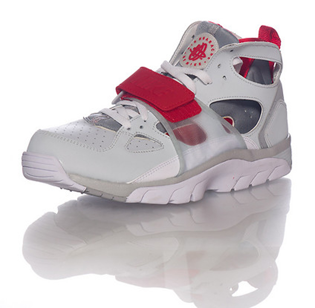 Nike Huarache Grey And Red