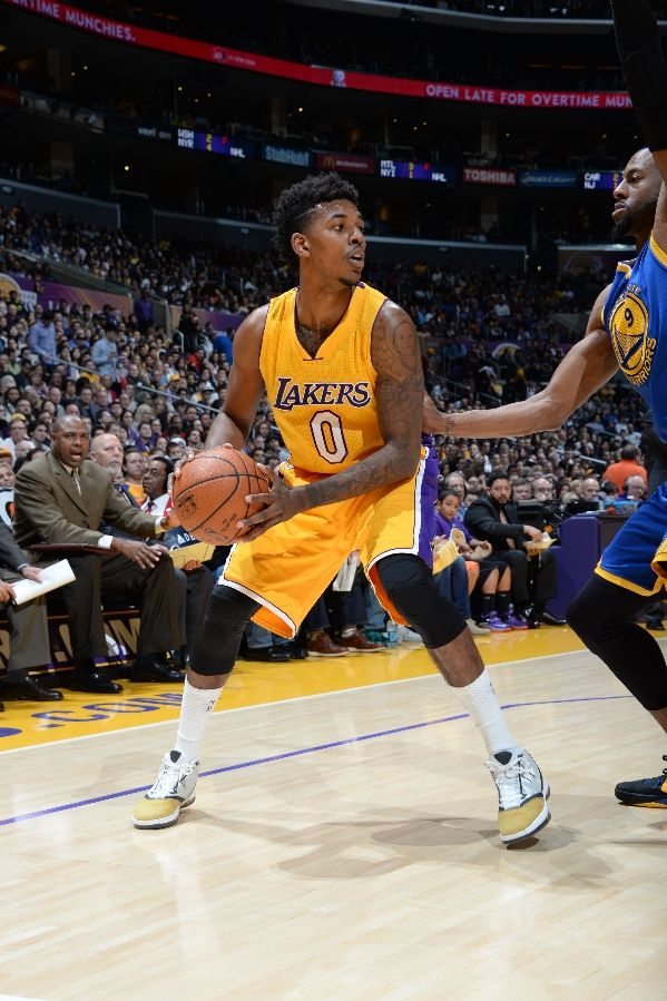 d2534e88af6d SoleWatch  Nick Young Leads the Lakers in the  Ginger  Air Jordan 16 ...