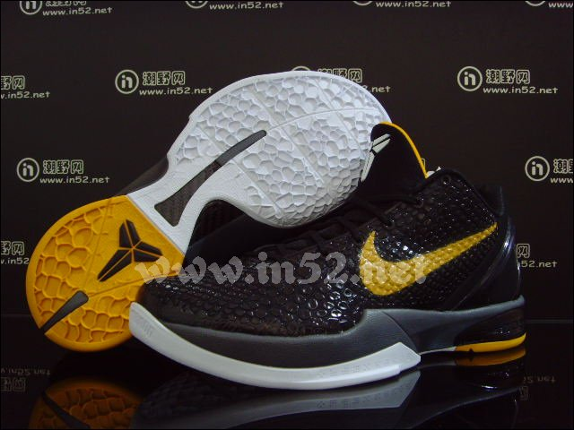 Nike Zoom Kobe VI Black Del Sol Dark Grey White 429659-002