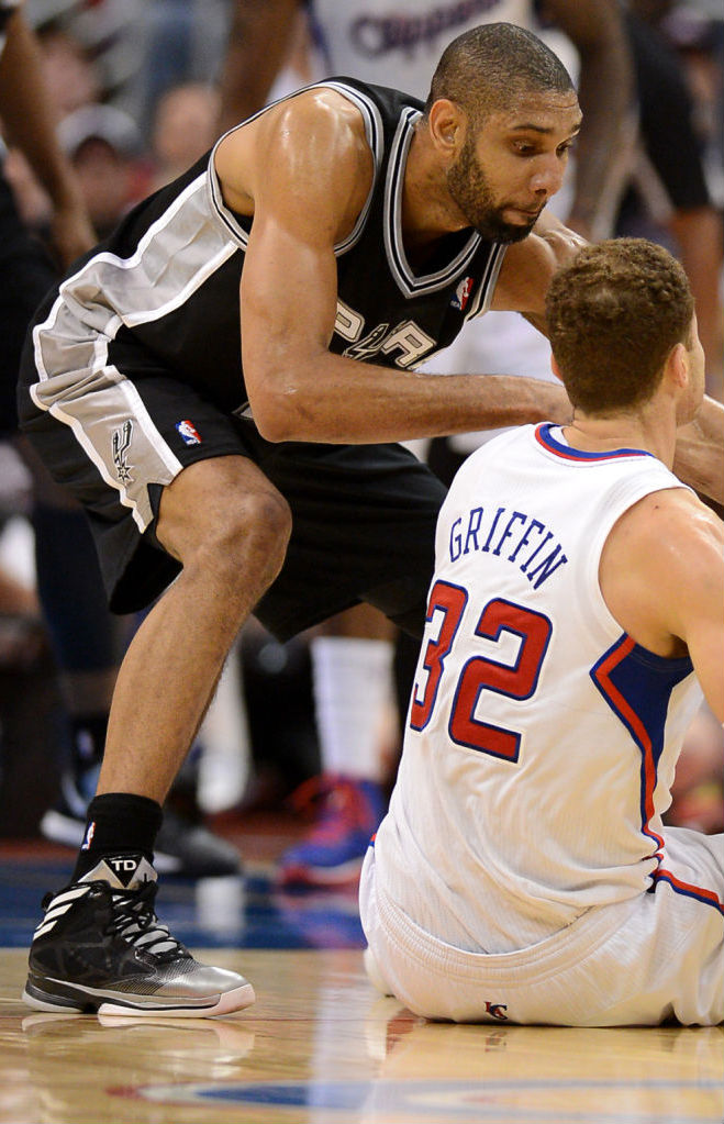 Tim Duncan wearing adidas Crazy Fast Away PE