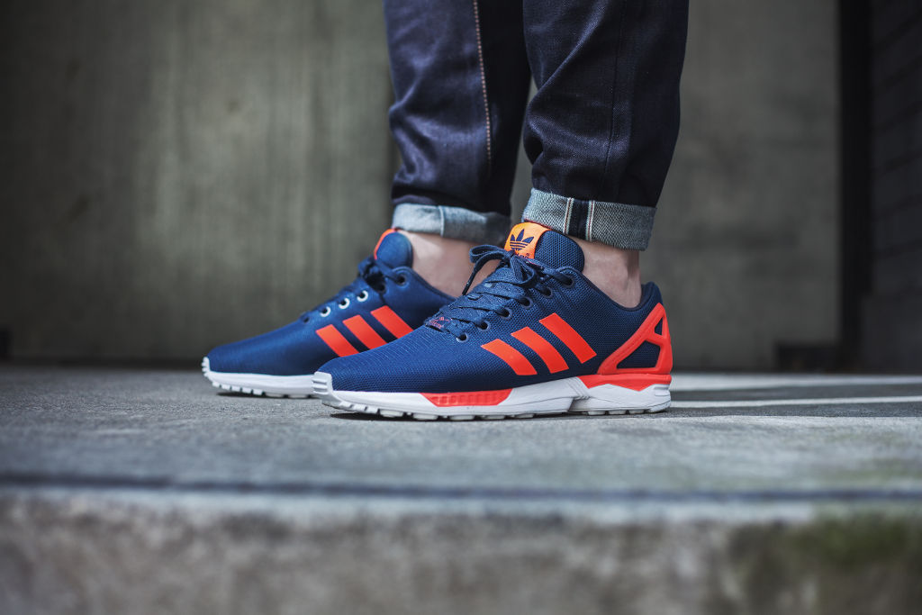 adidas ZX Flux Base Pack Navy/Red On-Foot